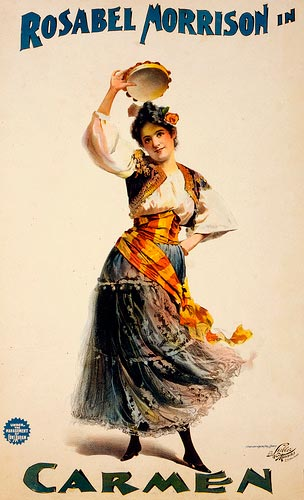 Bizet opera by Liebler & Maass Lithographers, 1896