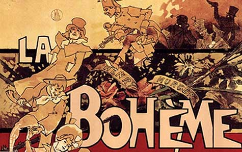 Poster for the 1896 production for Puccini's La bohème. Artist: Adolfo Hohenstein