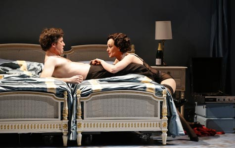 "Allison Cook and William Ferguson in Thomas Adès's ""Powder Her Face"" at New York City Opera. Photo: Carol Rosegg"