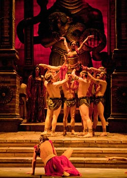 A scene from the 3rd Act ballet in in San Diego Opera's SAMSON AND DELILAH. Photo by J. Katarzyna Woronowicz