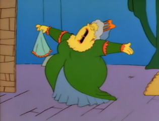 Fat lady via The Simpsons wiki - http://simpsons.wikia.com/